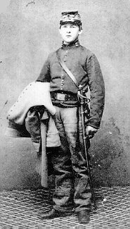 A very young Federal Cavalry private ... perhaps an indication of what young Charles might have looked like. (Image source unknown.)