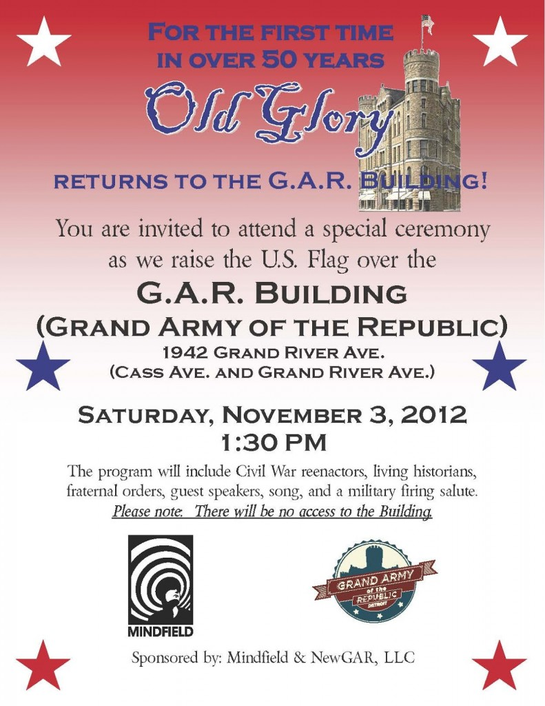 Detroit GAR Building Flag Raising