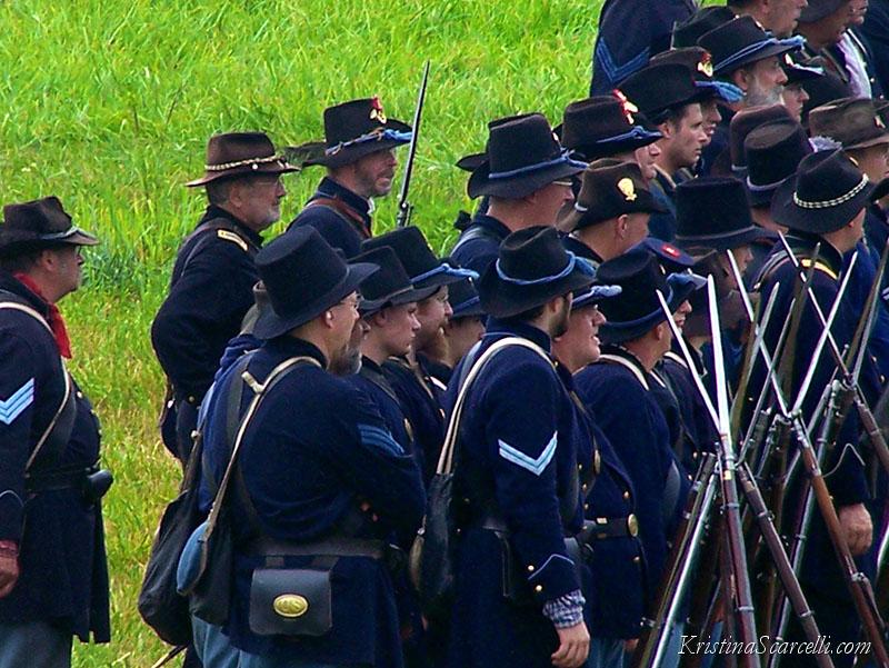 Iron Brigade Reenactors at 145th Gettysburg
