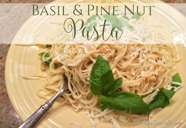Basil and Pine Nut Pasta