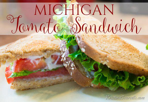 Michigan Tomato Sandwich